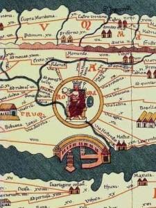 Rome area from the Tabula Peutingeriana