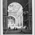 Luigi Rossini, The basilica dei Santi Cosma e Damiano, etching, 1842-1843.