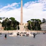 Fontana dei Leoni in piazza del Popolo, Rome