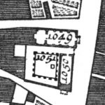 Giovanni Battista Nolli, Detail showing the complex of San Giovanni Decollato, from the New Plan of Rome (Nuova Pianta di Roma), 1748