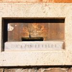 Letterbox on the right of the entrance to the complex of San Giovanni Decollato, Rome