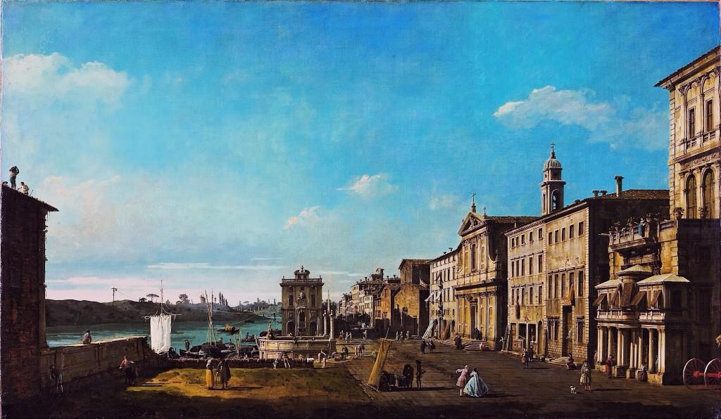 Bernardo Bellotto, View of Via di Ripetta in Rome