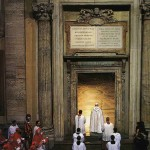 Opening of the Holy Door at San Pietro by pope Giovanni Paolo II