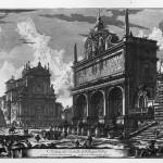 Giovan Battista Piranesi, Veduta del Castello dell' Acqua Felice presso le Terme Diocleziane