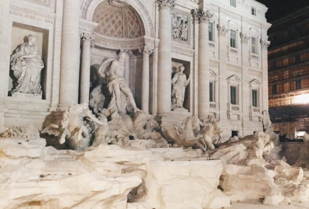 Newly restored Trevi Fountain on the 1st November 2015