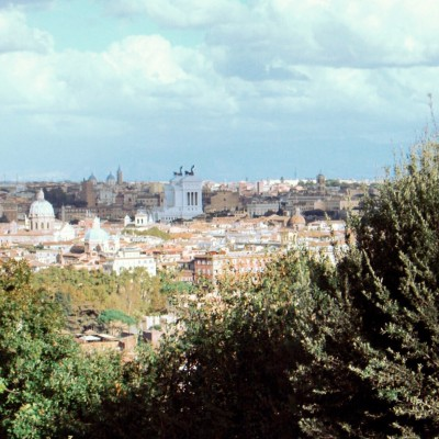 One of the most beautiful and complete views of Rome from the top of the Janiculum