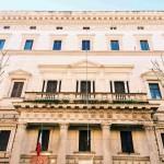 """Façade of Palazzo Brancaccio, seat of the Museo Nazionale d'Arte Orientale """"Giuseppe Tucci"""", Rome"""
