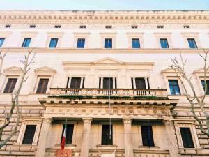 Façade of Palazzo Brancaccio, seat of the Museo Nazionale d'Arte Orientale
