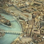 The southern area of Circus Flaminius in Campus Martius, Rome, detail of Italo Gismondi, Model reconstruction of the city of Rome in the age of Constantine at a scale of 1:250, Rome, Museo della Civiltà Romana.