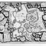 Giovanni Battista Piranesi, Plan of Rome (Pianta di Roma), 1756, etching