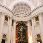 "Francesco Borromini, interior of the chiesa di San Carlo alle Quattro Fontane, also called ""San Carlino"""