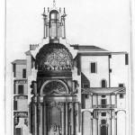 Sebastiano Giannini, section of San Carlo alle Quattro Fontane complex, ca. 1730
