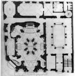 Sebastiano Giannini, floor plan of San Carlo alle Quattro Fontane complex, ca. 1730