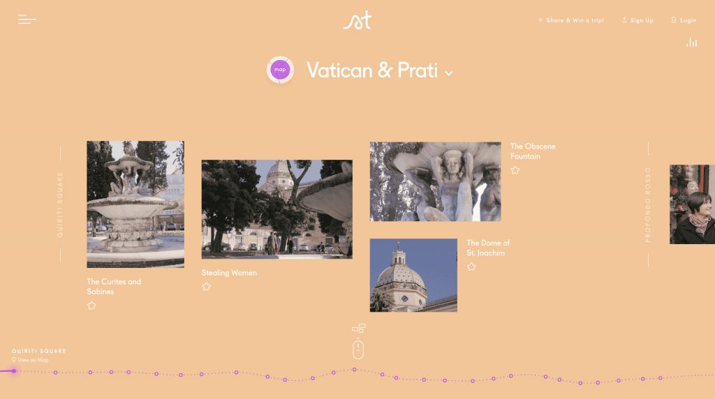 A screenshot of Vatican & Prati path on Storytrail.co