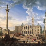 Giovanni Paolo Panini (1692–1765), The Piazza and Church of Santa Maria Maggiore, 1744, oil on canvas, Palazzo Quirinale, Rome