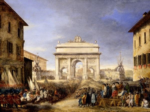 Felice Giani (1758-1823), Arco trionfale eretto a ponte Sant'Angelo per la Festa della Federazione