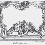 Juste Aurèle Meissonier (1695 – 31 July 1750), engraved design for a side table, ca. 1730, engraving, Paris