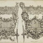 Filippo Passarini (1638 - 1698), Design for carriages with ornamentation of foliage and putti, 1698, etching