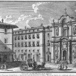 Giuseppe Vasi, Convento dei Ministri degli Infermi e Chiesa di S. Maria Maddalena [...], engraving, 1756