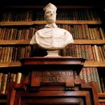 Francesco Moratti, marble bust depicting cardinal Enrico Noris