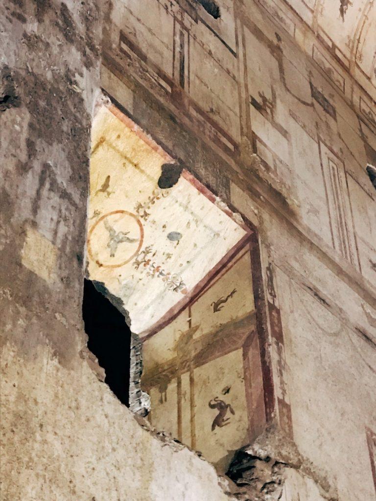 Detail of a window, Grande Criptoportico (92), 1st century AD, Domus Aurea, Rome