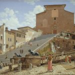Christoffer Wilhelm Eckersberg, The Marble Steps leading up to the Church of Santa Maria in Aracoeli in Rome