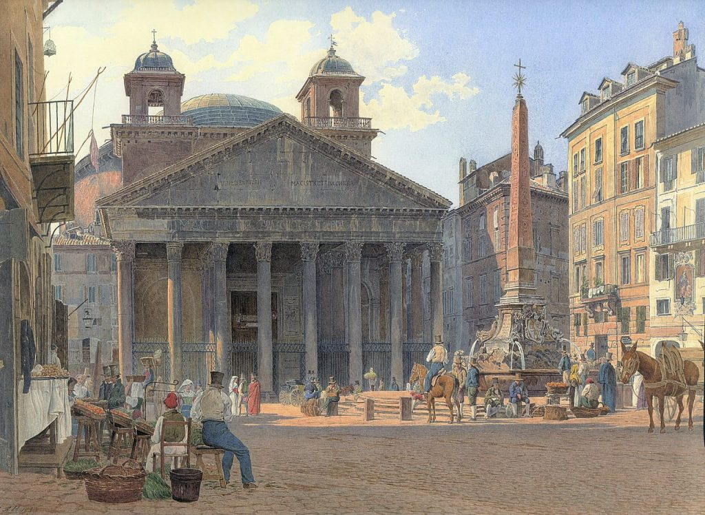 Jakob Alt, The Pantheon and the Piazza della Rotonda in Rome
