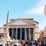 The Pantheon and piazza della Rotonda in Rome, today
