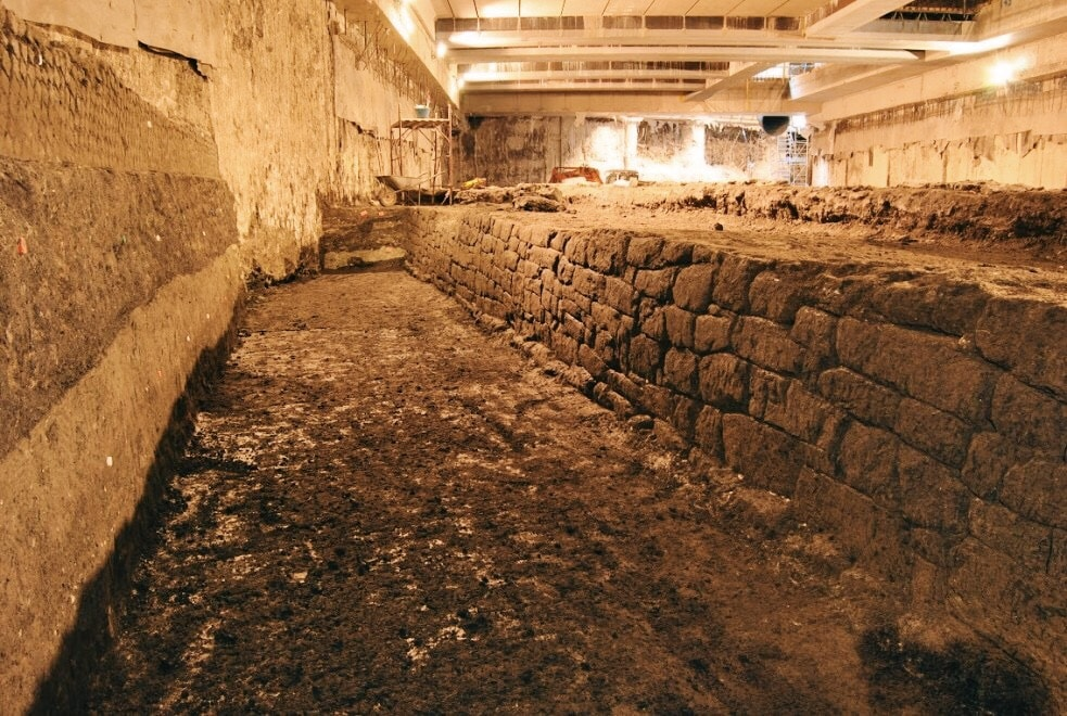 The great hydric reservoir dating back to the Imperial period, found in the area of San Giovanni subway station