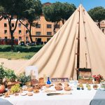 Ancient Roman flavorings and ointments featuring at the historical camp set in April 20-22, 2018 at Circus Maximus, during the celebrations of the founding of Rome, in Italy called Natale di Roma