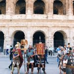 The historical procession starting from Circo Massimo and passing by Teatro di Marcello, Piazza Venezia and Via dei Fori Imperiali, to worthily close on the 22nd of April 2018 the celebrations of the founding of Rome, in Italy called Natale di Roma