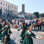 The historical procession starting from Circo Massimo and pass by Teatro di Marcello, Piazza Venezia and Via dei Fori Imperiali, to worthily close on the 22nd of April 2018 the celebrations of the founding of Rome, in Italy called Natale di Roma
