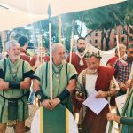 Ancient Roman characters, featuring at the historical camp set in April 20-23, 2018 at Circo Maximus, during the celebrations of the founding of Rome, in Italy called Natale di Roma
