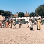 "The historical re-enactment of the founding of Rome, ""Tracciato del solco"", featuring at the historical camp set in April 20-22, 2018 at Circus Maximus, during the celebrations of the founding of Rome, in Italy called Natale di Roma"