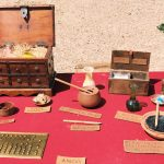 Ancient Roman pigments featuring at the historical camp set in April 20-22, 2018 at Circus Maximus, during the celebrations of the founding of Rome, in Italy called Natale di Roma