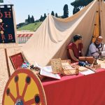 Ancient Roman techniques featuring at the historical camp set in April 20-22, 2018 at Circus Maximus, during the celebrations of the founding of Rome, in Italy called Natale di Roma