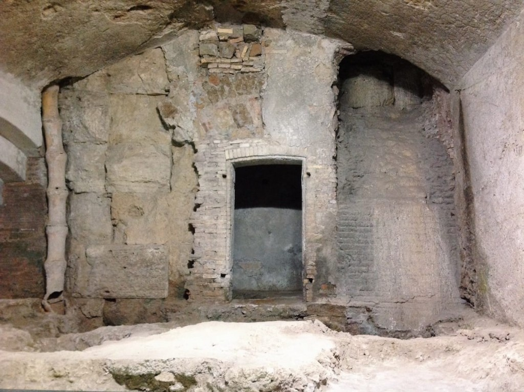 Modern cellars visible along the early medieval street running along the southern wall the porticus Minucia, Rome‬, Museo Nazionale Romano - Crypta Balbi