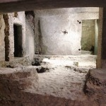 Modern cellars visible along the early medieval street running along the southern wall the porticus Minucia, Rome, Museo Nazionale Romano - Crypta Balbi