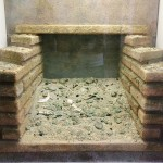 Reconstruction of the archaeological context where 360 coins were found in the drain below the latrine, located in the exedra of the Crypta Balbi, once it had stopped being used, at the beginning of the 5th century AD, Rome, Museo Nazionale Romano - Crypta Balbi