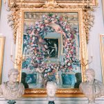 Carlo Maratta and Giovanni Stanchi, Mirror painted with a garland of flowers and four putti, ca. 1660s, Grande Galleria, Palazzo Colonna