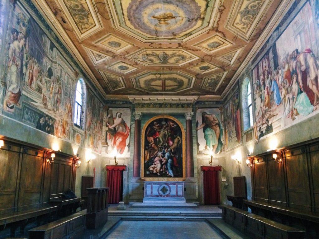 Altar wall at the Oratory of San Giovanni Decollato, Rome