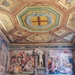 Entrance wall at the Oratory of San Giovanni Decollato, Rome