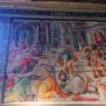 Unidentified artist following Francesco Salviati, Beheading of the Baptist (Decollazione del Battista), 1553, left wall at the Oratory of San Giovanni Decollato, Rome