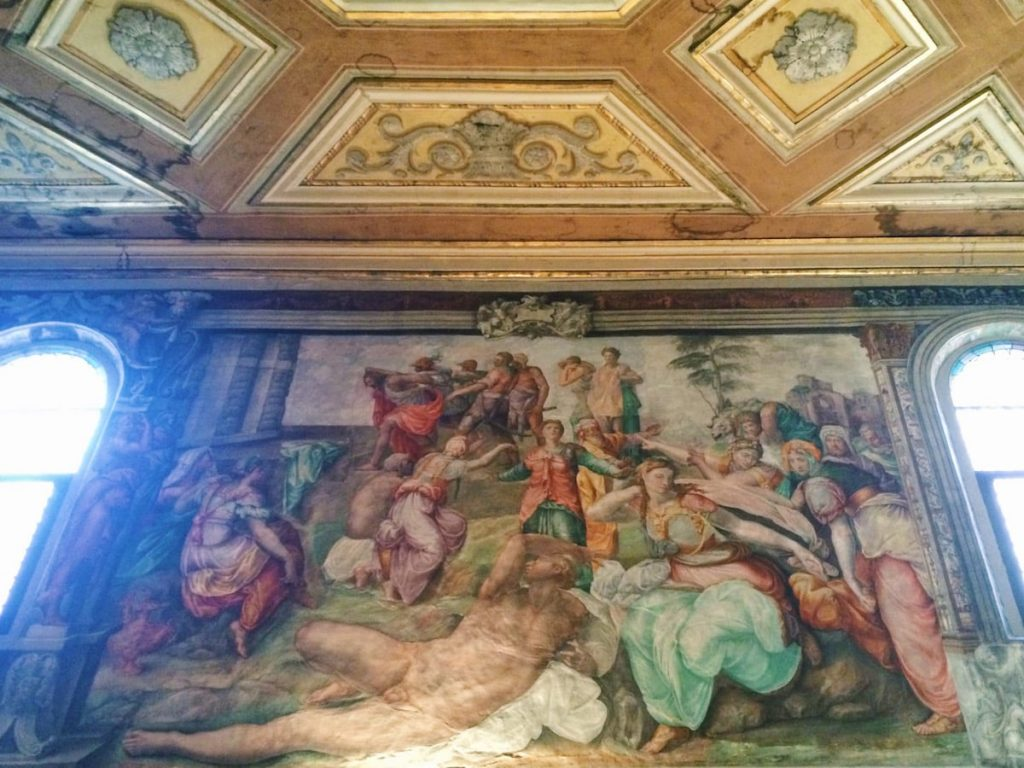 Battista Franco, Arrest of the Baptist (Arresto del Battista), ca. 1543, left wall at the Oratory of San Giovanni Decollato, Rome