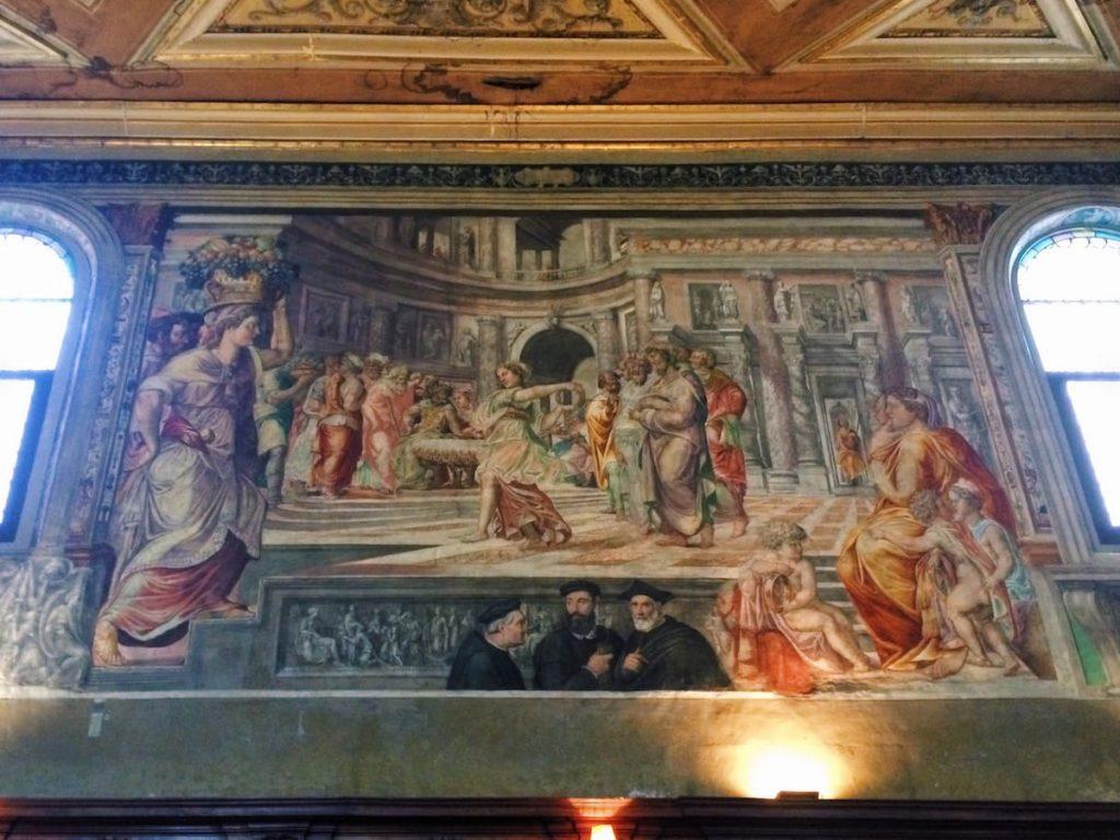 Pirro Ligorio (attr.), Dance of Salome (Danza di Salomè), ca. 1544 (?), left wall at the Oratory of San Giovanni Decollato, Rome