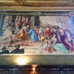 Francesco Salviati, The Visitation (Visitazione), 1538, right wall at the Oratory of San Giovanni Decollato, Rome