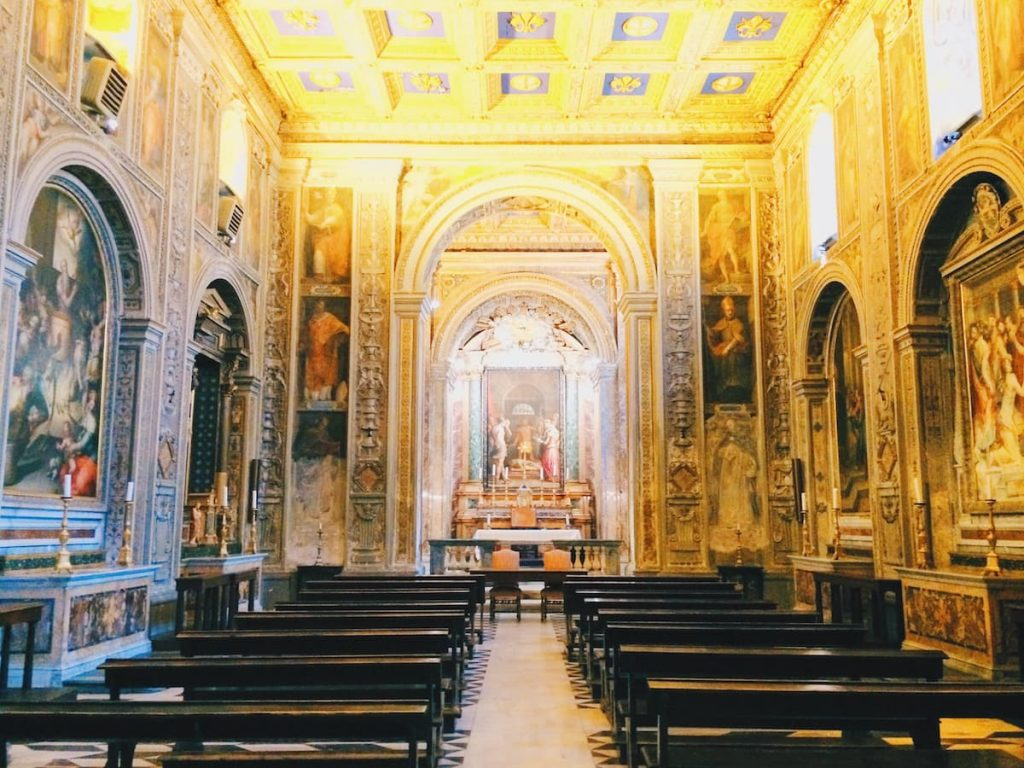 Interior of the chiesa di San Giovanni Decollato, Rome