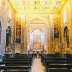 Interior of the chiesa di San Giovanni Decollato, Rome