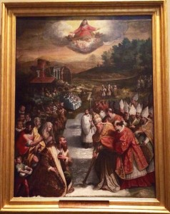Jacopo Zucchi, 'Miracle of the Snow', 1580, mixed tempera on panel, Città del Vaticano, Pinacoteca Vaticana.