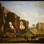 Herman van Swanevelt, A Roman View of the Ruins of the Temple of Venus and Rome with the Colosseum and the Arch of Constantine